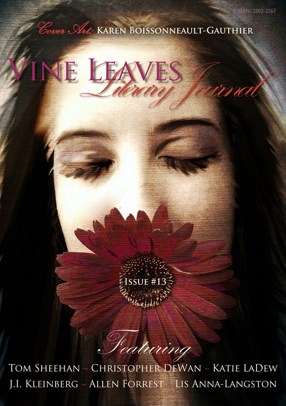 Vine Leaves Literary Journal, Issue #13 - Cover Art by Karen Boissonneault-Gauthier